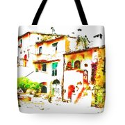 Buglimpse Of A Group Of Buildingsildings Tote Bag