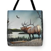 Bugling Elk Tote Bag