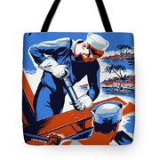 Build For Your Navy - Ww2 Tote Bag by War Is Hell Store
