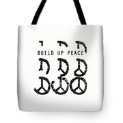 Build Up Peace Ll Tote Bag
