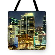 Building At Night With Lights Tote Bag
