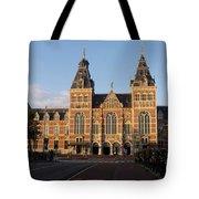 Building Exterior Of Rijksmuseum. Amsterdam. Holland Tote Bag