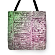 Building Hieroglyphics Tote Bag