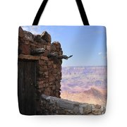 Building On The Grand Canyon Ridge Tote Bag
