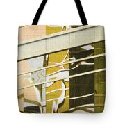 Building Reflection Abstract Color. Tote Bag