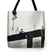 Building The Empire State Building Tote Bag