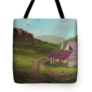 Buildings In Landscape Tote Bag