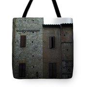 Buildings On A Side Street In Siena Tote Bag