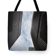 Builing Into The Cloud Tote Bag