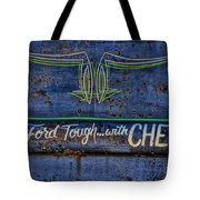 Built Ford Tough With Chevy Stuff Tote Bag