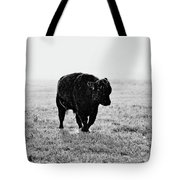 Bull After Ice Storm Tote Bag