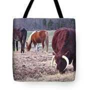 Bull And Horses, Mt. Vernon Tote Bag