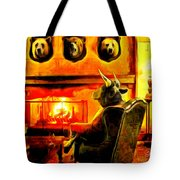 Bull At Night Tote Bag