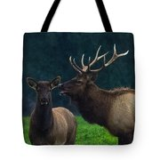 Bull Bugling For His Cow Tote Bag