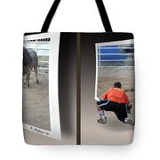 Bull Challenge - Gently Cross Your Eyes And Focus On The Middle Image Tote Bag