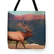 Bull Elk On Trail Ridge Road Tote Bag
