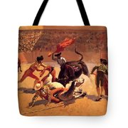 Bull Fight In Mexico 1889 Tote Bag