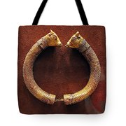 Bull-heads Necklace Tote Bag by Andonis Katanos