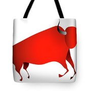Bull Looks Like Cave Painting Tote Bag by Michal Boubin