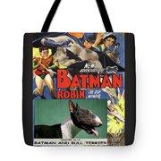Bull Terrier Art Canvas Print - Batman Movie Poster Tote Bag