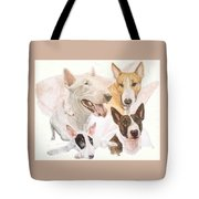 Bull Terrier W/ghost Tote Bag