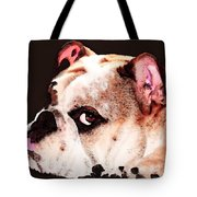 Bulldog Art - Let's Play Tote Bag by Sharon Cummings