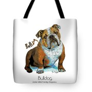 Bulldog Pop Art Tote Bag