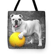 Bulldog Soccer Tote Bag
