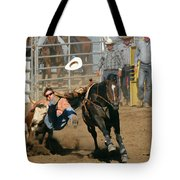 Bulldogging At The Rodeo Tote Bag