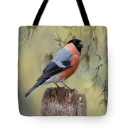 Bullfinch Bird Tote Bag