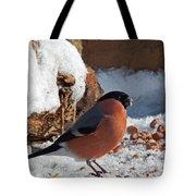 Bullfinch In The Snow Tote Bag