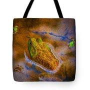 Bullfrog In Water Tote Bag