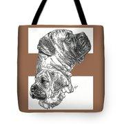 Bullmastiff And Pup Tote Bag