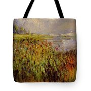 Bulrushes On The Banks Of The Seine 1874 Tote Bag