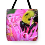 Bumble Bee And Flower Tote Bag