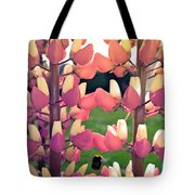 Bumble Bee And Flowers Tote Bag