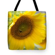 Bumble Bee And The Sunflower Tote Bag