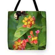 Bumble Bee In Flight Tote Bag