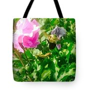 Bumble Bee In Mid Flight Tote Bag