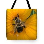 Bumble Bee On Yellow Nasturtium Tote Bag