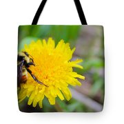 Bumble Bees And Dandelions Tote Bag