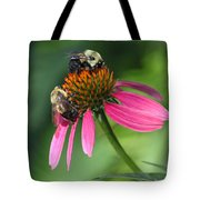 Bumble Bees At Work Tote Bag