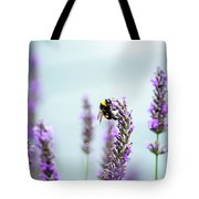 Bumblebee And Lavender Tote Bag