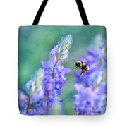 Bumblebee And Lupine Tote Bag