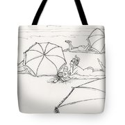 Bums On The Beach Tote Bag