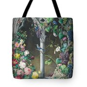 Bunches Of Roses Ipomoea And Grapevines Tote Bag