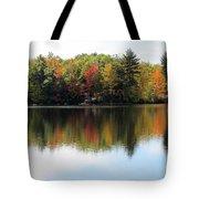 Bunganut Lake Maine Foliage 11 2016 Tote Bag