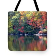 Bunganut Lake Maine Foliage 13 2016 Tote Bag