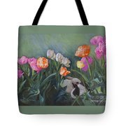 Bunnies In The Blooms Tote Bag
