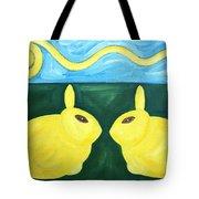Bunnies Talking Tote Bag